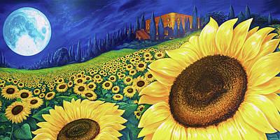 Digital Art - Sunflower Mural by Brenda Ferrimani
