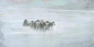 Huskies Paintings