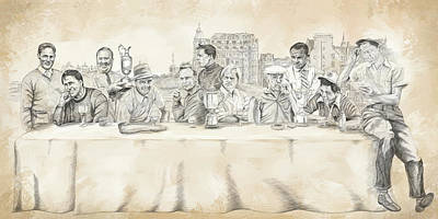 Mixed Media - The last Supper by Rico Kohlstedt