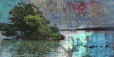 Digital Art - Trees and Ducks by Vin De Rosa