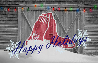 Joe Hamilton - Baseball Wood Christmas Art Wall Art