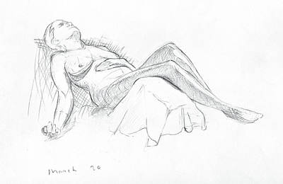 Drawing - Figure Sudy by Andrew Sandberg