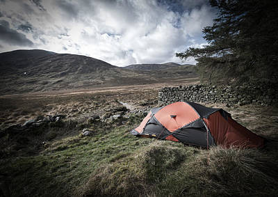 Photograph - Tent in Mournes by Edward Benton