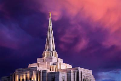 Photograph - Gilbert Temple Sunset by Joseph Plotz