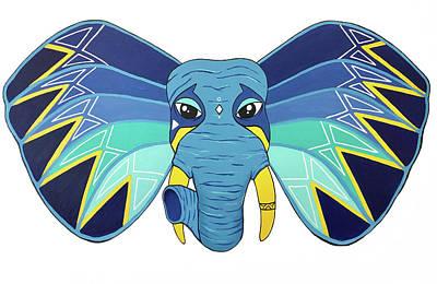 Painting - Aztec Elephant 2 by Allison Liffman