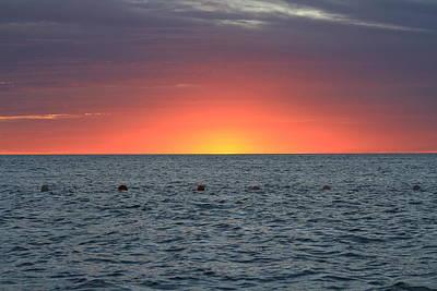 Photograph - Beautiful Sunset at Sea by Carmin Wong