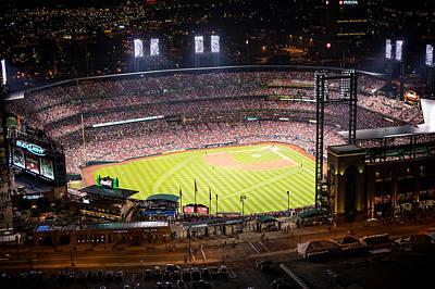 Photograph - Busch Stadium at Night by Jeff Landis