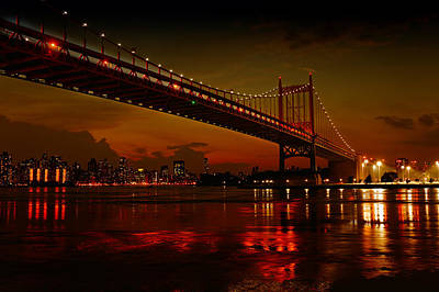 Photograph - Fiery Astoria NYC by M Nuri Shakoor