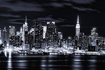 Photograph - Midnight Lights Of Manhattan by M Nuri Shakoor