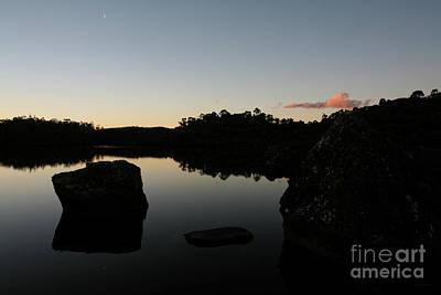 Photograph - New Moon on the Tarns - Tasmania Australia by Julian Wicksteed