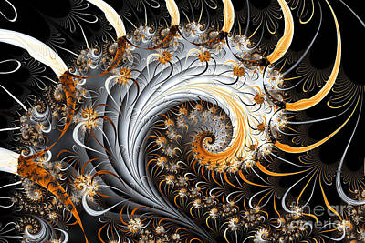 Digital Art - Perfect Spiral by Sven Fauth