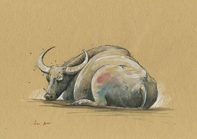 Water Buffalo Paintings
