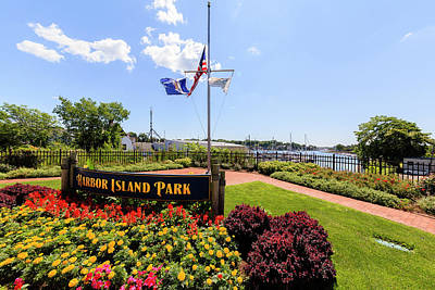 Photograph - The Harbor Island Park in Mamarineck, Westchester County by Alex Potemkin