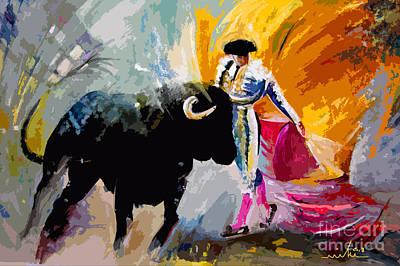 Bullfighting Mixed Media