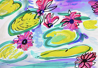 Painting - Waterlilies by Amara Dacer