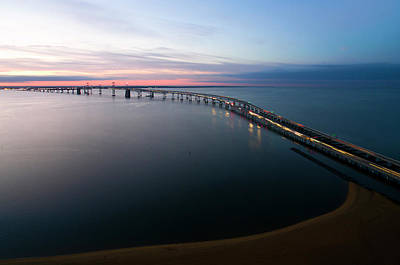 Photograph - Chesapeake Bay Bridge by Mid Atlantic Aerial