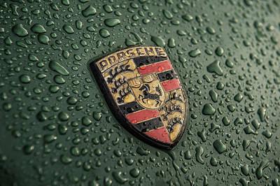 Photograph - Porsche Logo - Luftgekuhlt by Drew Phillips