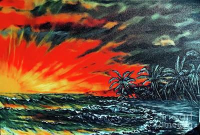 Painting - Black Sand Beach  by Michael Silbaugh
