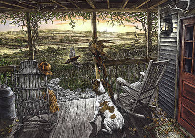 Drawing - Cabin Fever by Clint Hansen