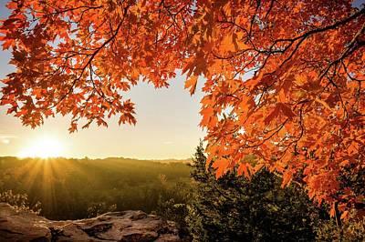 Photograph - Capen Fall Sunrise by Heath Cajandig