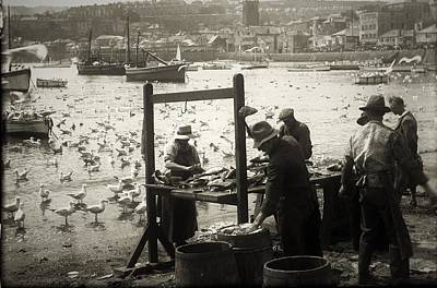 Photograph - Cleaning the Catch by Graham Harding