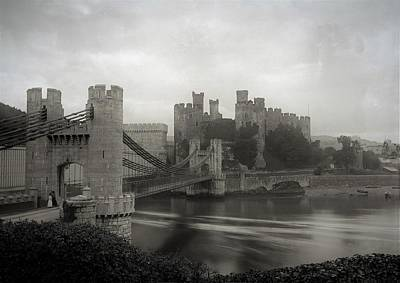 Photograph - Conwy Castle circa1890 by Graham Harding