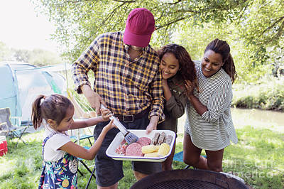 Designs Similar to Excited Family Barbecuing