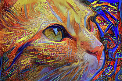 Orange Tabby Cat Digital Art