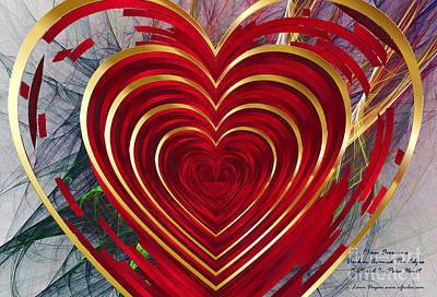 Digital Art - Pure Heart Meditation by EGiclee Digital Prints