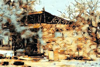 Digital Art - Yesteryears House by Gail Daley