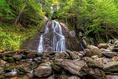 Photograph - Moss Glen Falls Early Autumn - Granville Vermont  by Chad Dikun