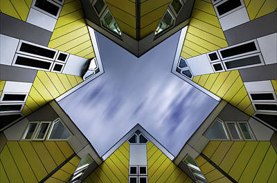 Photograph - Rotterdam - Cube houses by Philippe Lejeanvre