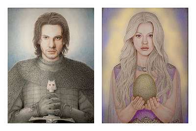 Drawing - A Song of Ice and Fire by Vanessa Cole