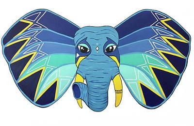 Painting - Aztec Elephant II by Allison Liffman