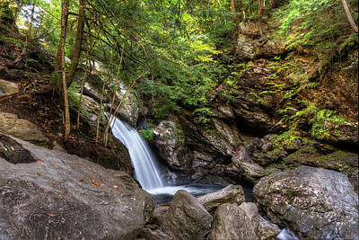 Photograph - Bingham Falls Early Autumn - Stowe, Vermont by Chad Dikun