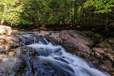 Photograph - Bingham Falls Stream - Stowe, Vermont by Chad Dikun