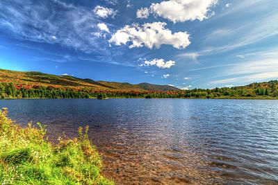 Photograph - Blueberry Lake Early Autumn - Warren, Vermont by Chad Dikun