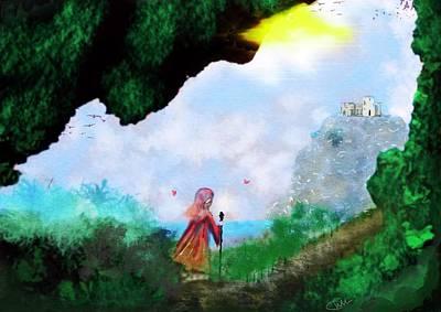 Digital Art - Concept Fantasy Journey  by Christine Sherborne
