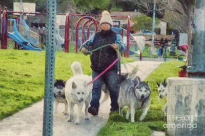 Photograph - Dog Walker by Davy Cheng
