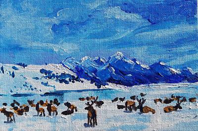 Painting - Elk Study by Allison Fox