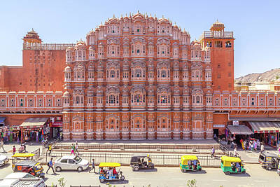 Photograph - Hawa Mahal in Jaipur during the day. by Travel and Destinations - By Mike Clegg