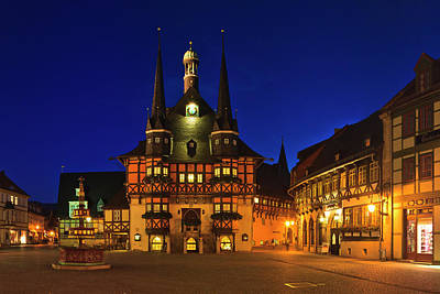 Photograph - Historic Town Hall in Wernigerode, Germany by Rainer and Simone Hoffmann