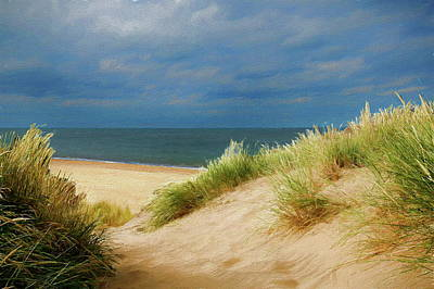 Painting - Isolated Sandy Beach by Russ Harris