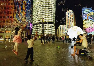 Photograph - Jumping at soap bubbles by Michael Hodgson