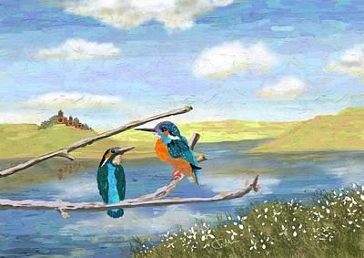 Digital Art - Kingfisher Haven by Christine Sherborne