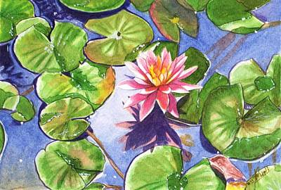 Painting - Lily in the pond by Swati Singh