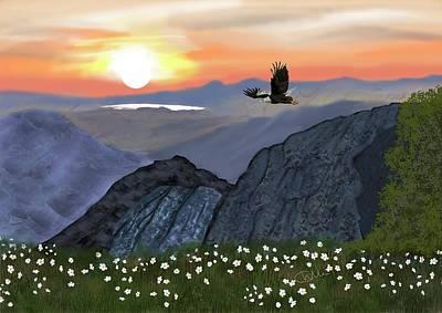 Digital Art - Lone Eagle by Christine Sherborne