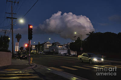 Photograph - Night Cloud and Street Lights by Davy Cheng