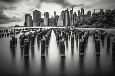 Photograph - Old pier One - Brooklyn park by Sasha Samardzija