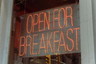 Photograph - Open for breakfast by Farzad Frames